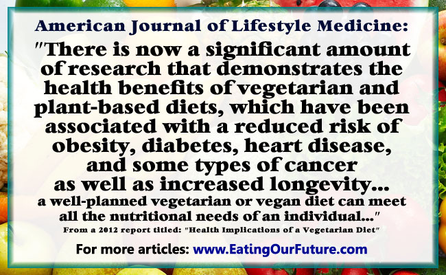 the health benefits of vegetarianism Now there's another health perk vegetarians can boast people at a low risk for cancer overall and discovered that a vegetarian diet may have protective benefits.