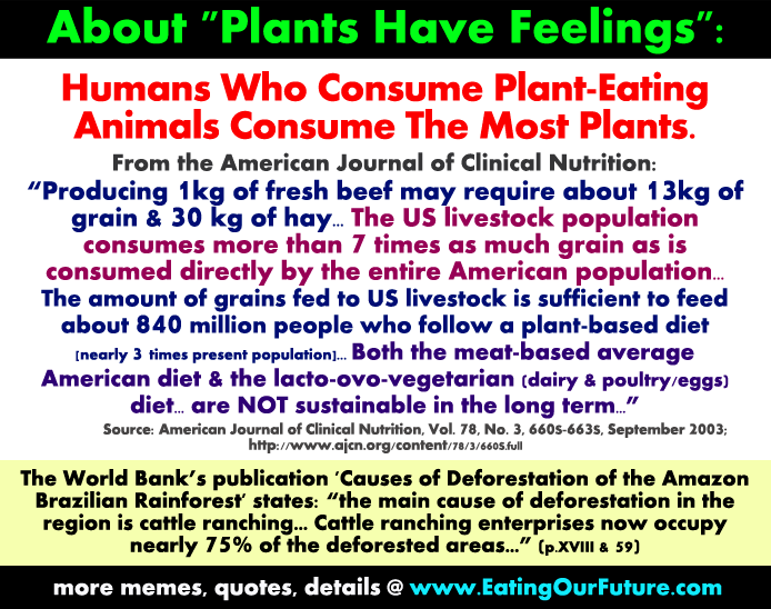 Best New Funny Vegan Vegetarian Memes Facts Quotes Figures Claim Plants Are Sentient Have Feelings Vegetarians Vegans Eat Kill Hurt But Meat Eaters do Most Livestock Farm Animals Consume Majority Plant Crops Reply Rebuttal Refuted Exposed