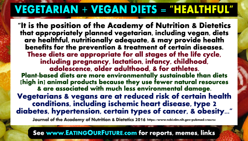 Health Benefits of Plant-based Diets: Science Reports on Vegans & Vegetarians. – www ...